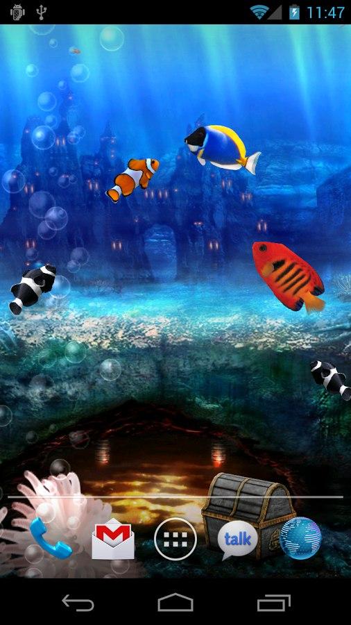 Aquarium - живые обои аквариума