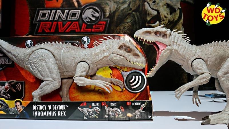New Destroy N Devour Indominus Rex Dino Rivals Unboxing EP1 Mattel Jurassic World Fallen Kingdom