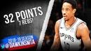 DeMar DeRozan Full Highlights 2018.12.05 Lakers vs Spurs - 32 Pts, 7 Rebs! | FreeDawkins