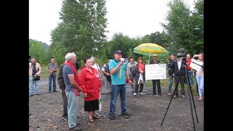 Выступления на митинге против повышения пенсионного возраста Междуреченск август 2018 г.