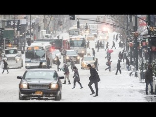 Let It Snow: Scenes From New York After Big Winter Storm