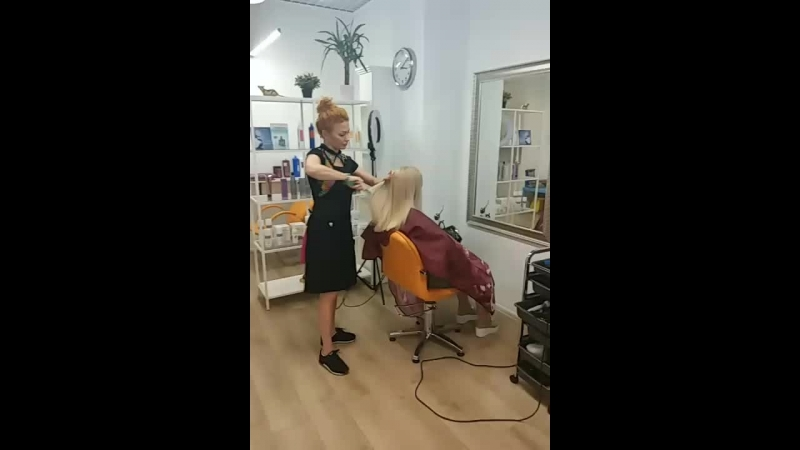 Работа нашего парикмахера-стилиста Илоны