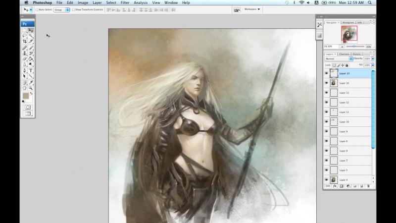 The Art of Daarken (Video Tutorials) - Female Hunter Part 2 HD