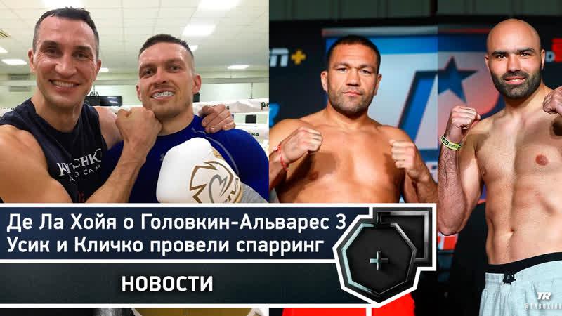 Усик и Кличко провели спарринг Де Ла Хойя о Головкин Альварес 3 FightSpace