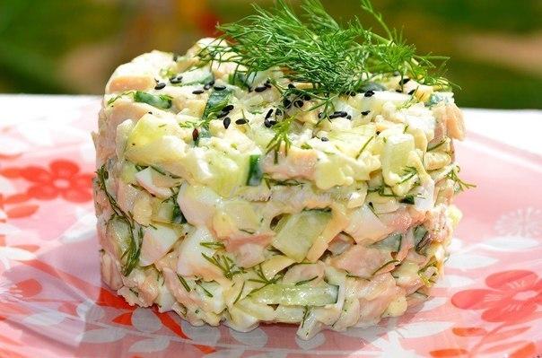 Салат и из кальмаров