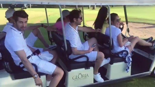 """NO309 DemFur Aktif Sayfa on Instagram: """"Kaptan Demet olsada Golf arabasını Furkan Sürüyor Demet farkında bile değil. Ee boyu iki metre olunca 😉😉😀N..."""
