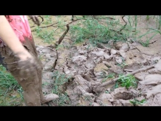 Chinese girl in mud 3