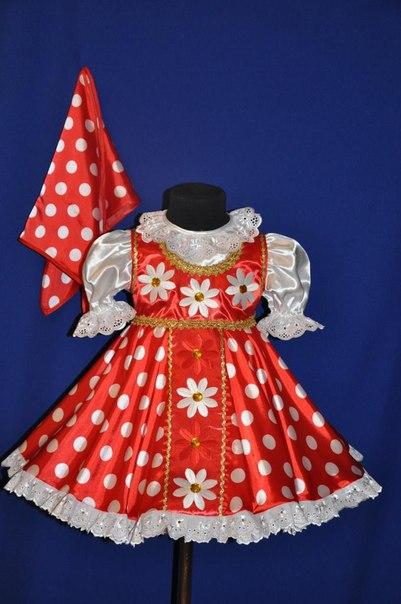 Платье матрешки для девочки 80