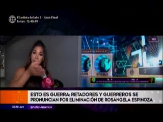EEG - Retadores y Guerreros se pronuncian por eliminacion de Rosangela Espinoza