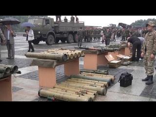 Киев. Выставка тяжелого вооружения изъятого у ополчения Донбасса!  Новости Украины сегодня