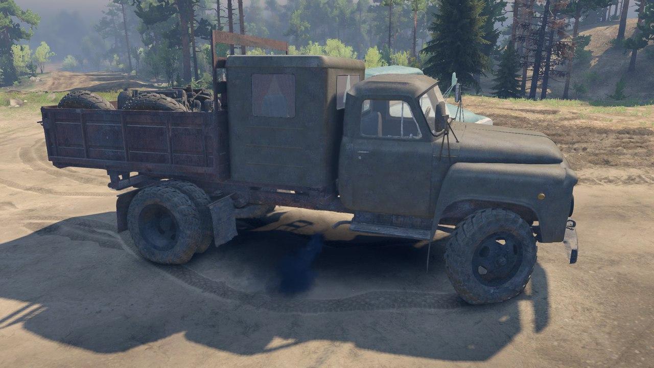 Пак автомобилей ГАЗ-52 и ГАЗ-53 для версии 13.04.15 для Spintires - Скриншот 1