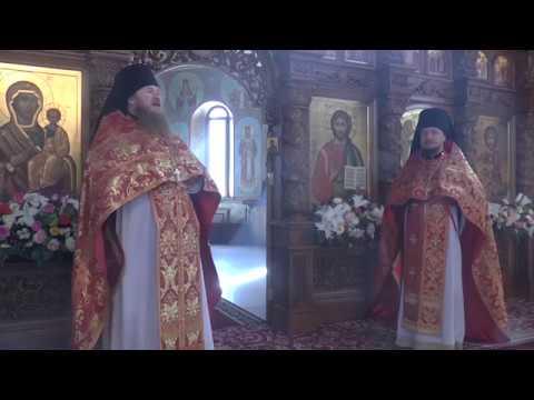 Поздравление игумена Варфоломея прихожан храма муч Виктора Дамасского