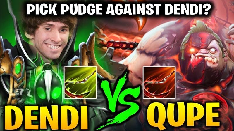 DENDI Rubick vs QUPE Pudge Who Hook Better ! Dota 2