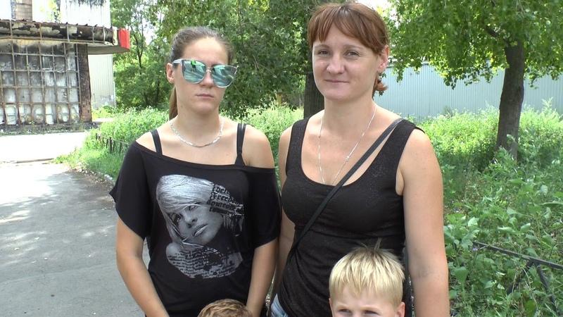 Помощь многодетной семье на линии фронта