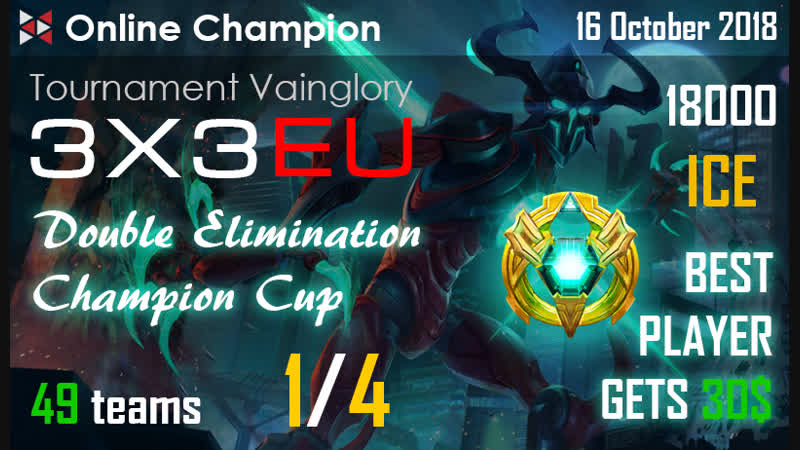 Vainglory |RUS| stream. Online Champion 14. Fenix Rising VS New Name Incoming.