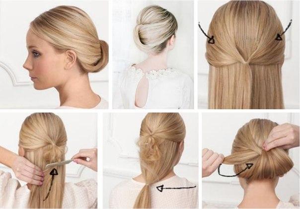 Как сделать волны на волосах с помощью пучка