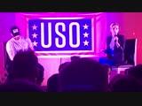 Chris Evans and Scarlett Johansson on USO Tour