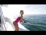 Girls First Time Fishing_ For Snapper Off The East Coast Of Florida, With Back T