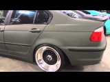2004 BMW 330i Slammed With Stretched Tires, BBS Rims, And Matte Paint