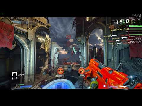Doom Empyrian map 1080p full hd max settings i7 8700 gtx 1070