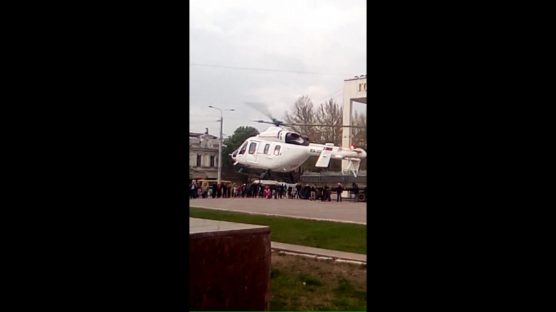 проходил возле Ленина вертолёт взлетает