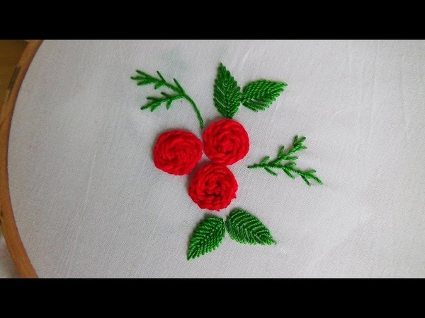 Hand Embroidery Stem stitch roses