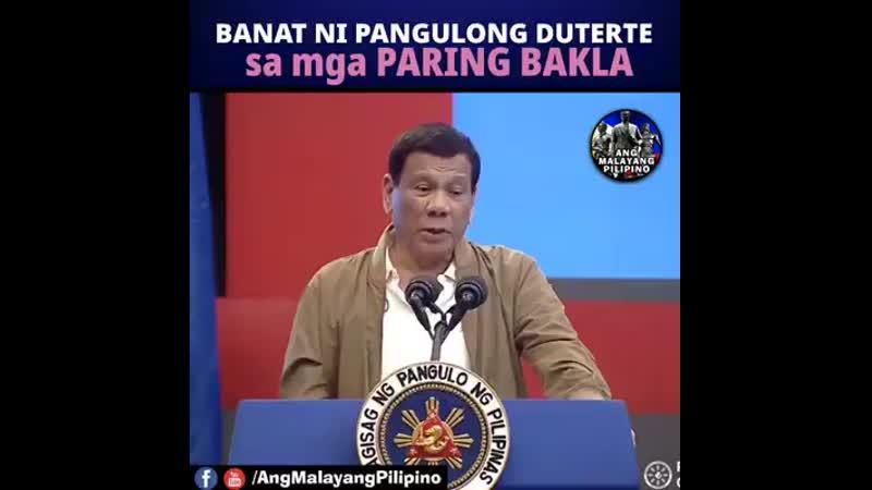 PANOORIN Banat ni Pangulong Duterte sa mga PARING BAKLA.mp4