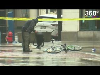 Велосипедист пытался разминировать рюкзак