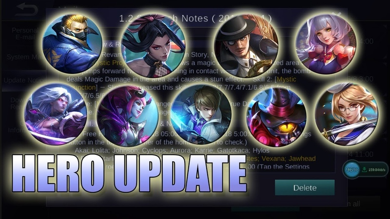 HERO UPDATE - FANNY, GUSION, LANCELOT, HAYABUSA - MOBILE LEGENDS NEWS
