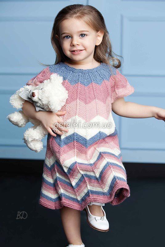 Детские платья зигзагом крючок
