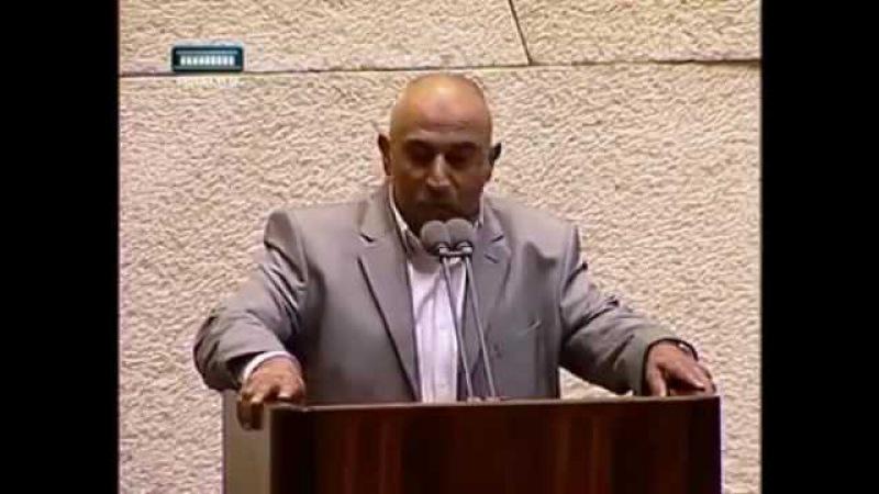 Сионисты запещают Азан в Израиле,Ахмед Ат-Тыби выйдя на трибуну произнес Азан-в ...