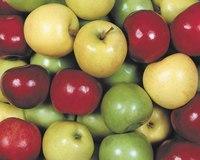 """Схема вышивки  """"Яблоки """": таблица цветов."""
