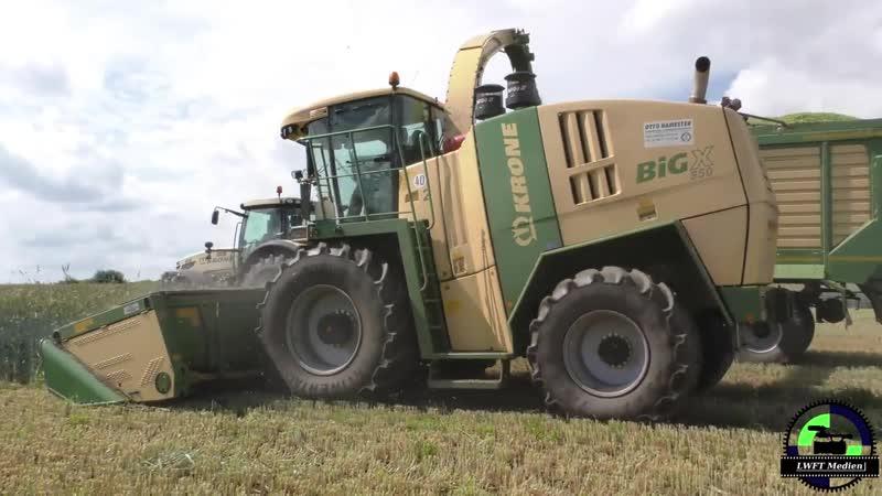 GPS häckseln 2016 mit Krone BIG x 850 und Krone BIG MF Krone TX 560D