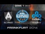 Cloud 9 vs. Alliance - Quarterfinals Map 1 - ESL One Frankfurt 2014 - Dota 2