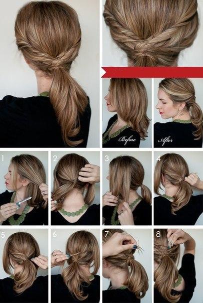 Укладка, прически на короткие волосы. Пошаговые фото уроки