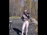 Bike push-ups challenge