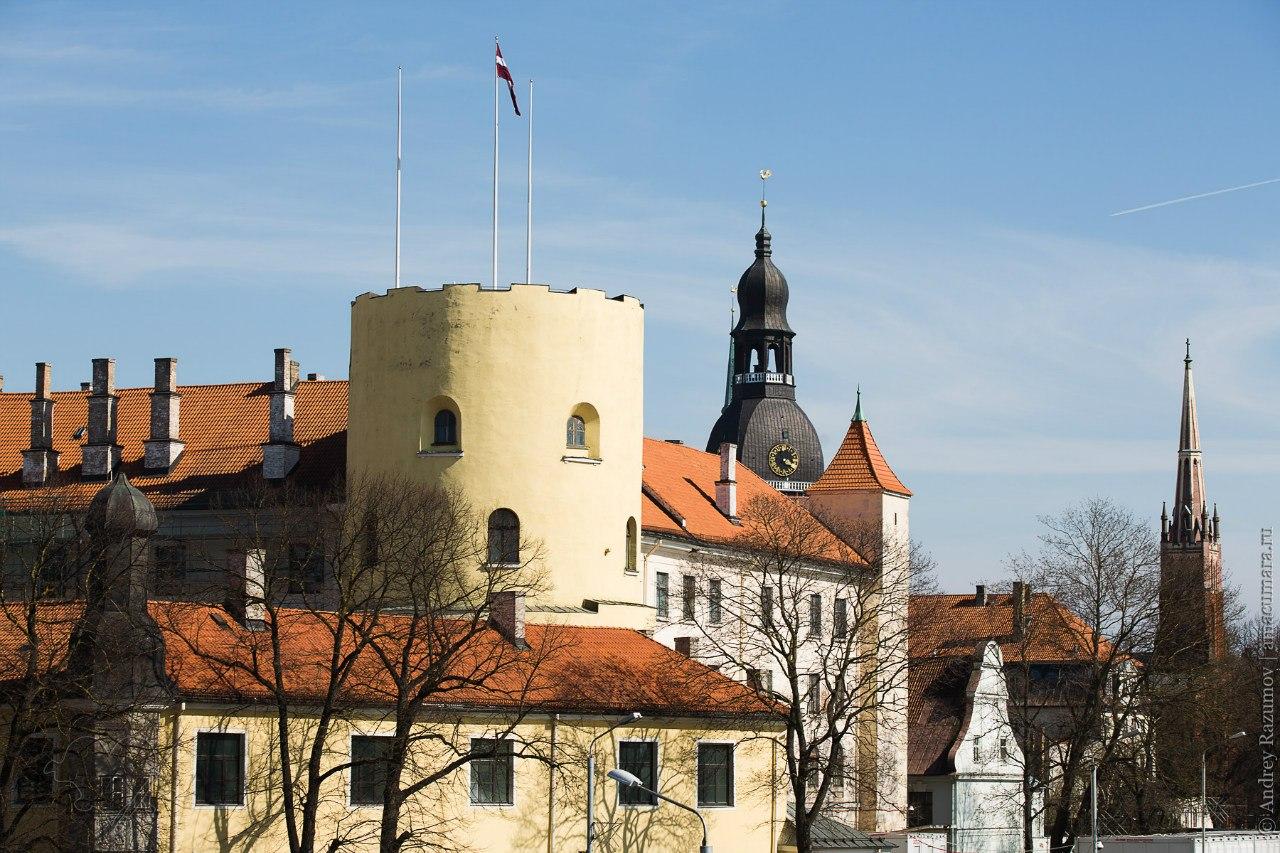 Рига Рижский замок пожар