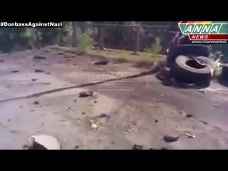ЛНР. Личисанск. Взорванный мост. 24.07.2014  LPR. Lisichansk. Exploded bridge