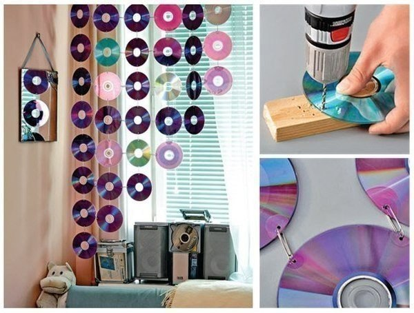 Новая жизнь старых дисков #DIY_Идеи