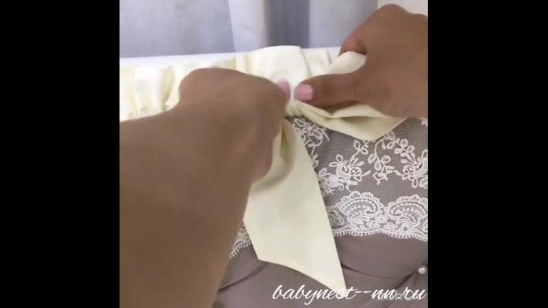 Полезное видео, как завязывать банты на бортиках.😉 🙏❤️🙏 Наши изделия в наличии тут👉 🎀babynest-nn.ru🎀 Для пошива под заказ пишите