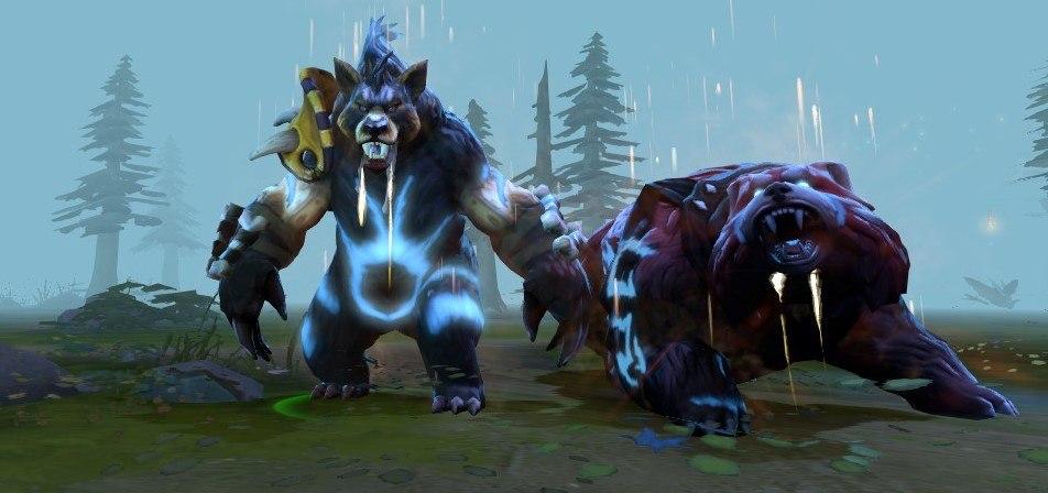 билд на медведя дота
