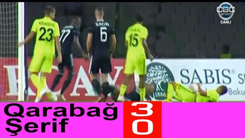 Qarabağ 3-0 Şerif QOLLAR VƏ GENİŞ İCMAL 30.08.2018 (Qarabag vs Sheriff 3-0) SportMix AZ