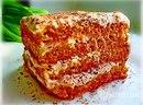Морковный тортик с творожно- банановым кремом