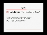 YouTube - 2 Basic English Grammar - INON as prepositions of time