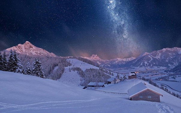 Тирольские горы зимой, Австрия