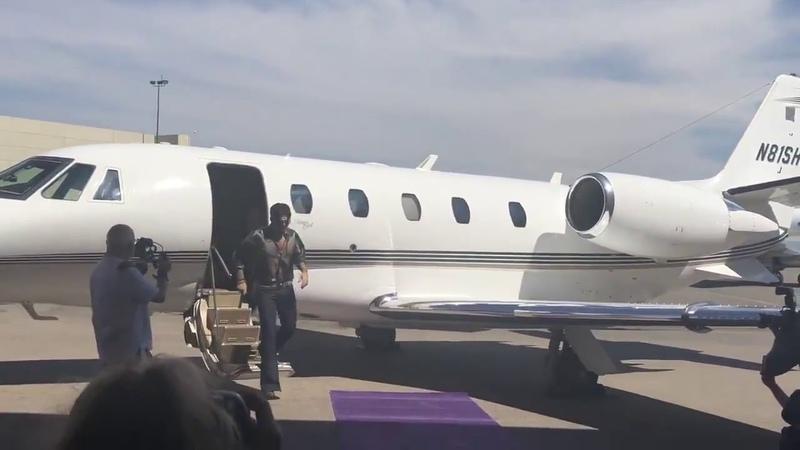 Brian May, Roger Taylor e Adam Lambert chegam no MGM Resorts em Las Vegas - 28/08/2018