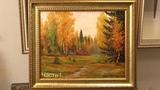 Осенний лес. 1 часть. Живопись маслом в два сеанса. Autumn in the forest. Part 1