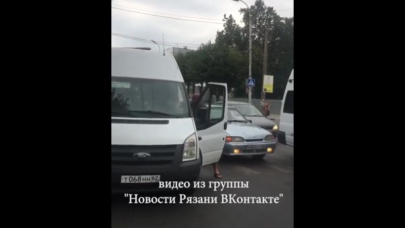 Драка с маршрутчиком на улице Дзержинского