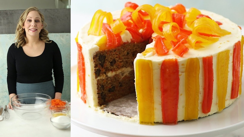 Frosted: Carrot-Ginger Layer Cake with Orange Cream-Cheese Frosting