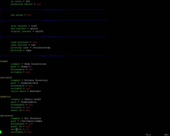 Linux. Модуль 9 SAMBA